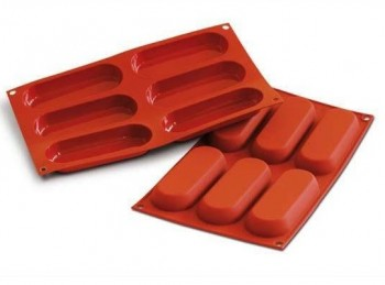 stampo placca silicone forma biscotti savoiardo silikomart