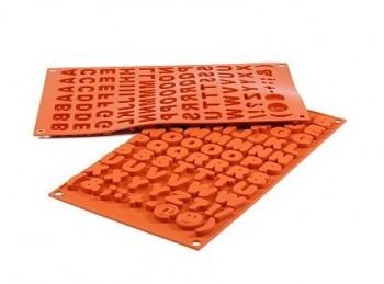 stampo placca silicone per cioccolatini lettera alfabeto silikomart