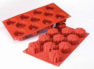 stampo mini muffin natale silicone Siilikomart fiocco di neve