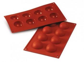 stampo placca silicone semi sfera cupola silikomart