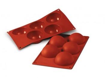 stampo placca silicone mezza sfera silikomart