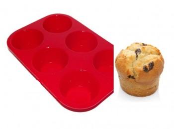 stampo 6 impronte in silicone per muffin