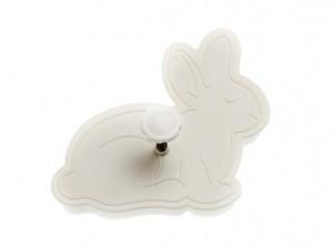 stampino tagliabiscotti coniglio pasquale con bottone