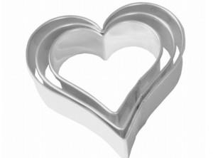 serie stampi taglia biscotti cuore bordo liscio