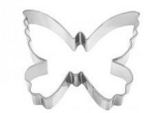 stampo taglia biscotti farfalla inox birkmann