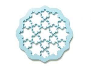 impronta taglia biscotti fiocco neve ghiaccio lekue