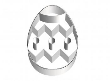 stampo taglia biscotti frollino uovo pasquale decorato birkmann
