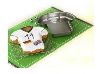 stampo tortiera per torta forma maglietta sport
