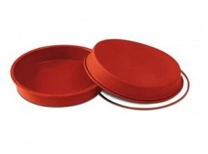 stampo forma tortiera rotonda liscia silicone