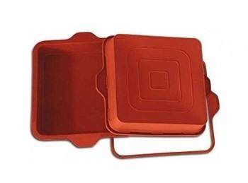stampo forno silicone italiano torta quadrata