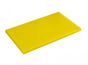 tagliere da banco con fermo polietilene haccp giallo