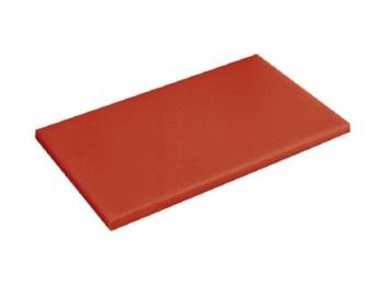tagliere da banco con fermo polietilene haccp rosso