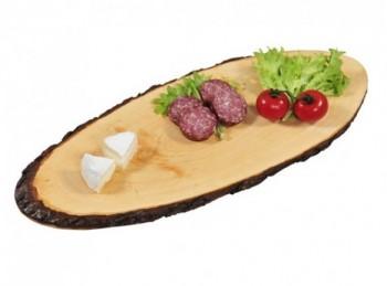 tagliere rustico in corteccia di legno ovale