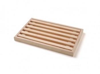 tagliere legno per pane con griglia raccogli briciole