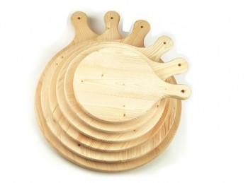 tagliere asse legno rotondo legno abete