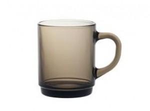 tazza thè mug vetro temperato marrone