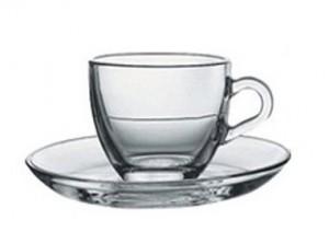tazza caffè vetro temperato trasparente