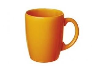tazza mug caffè latte ceramica colore arancio