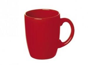 tazza mug caffè latte ceramica colore rosso