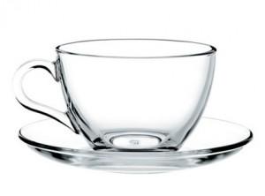 tazza thè vetro temperato trasparente