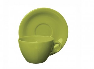 tazza latte porcellana mono colore trendy