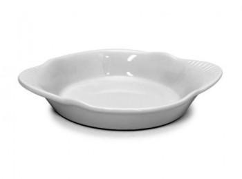 piatto pirofila porcellana bianca monoporzione