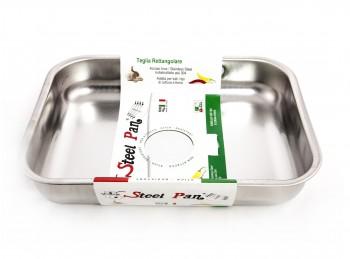 teglia rostiera rettangolare da forno inox steel pan