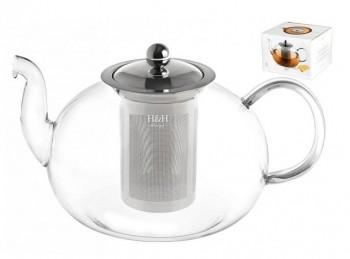 teiera infusiera con filtro acciaio inox h&h