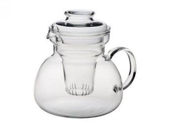 teiera vetro con filtro e coperchio tutto vetro simax