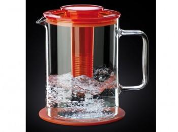 teiera infusiera vetro con filtro plastica