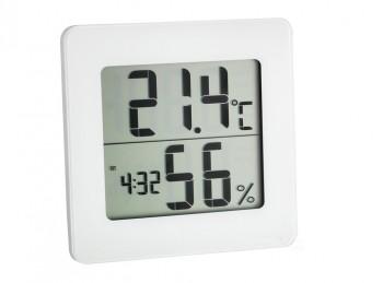 termometro digitale con igrometro e funzione orologio tfa