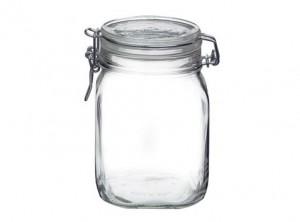 vaso barattolo vetro ermetico fido bormioli 1000