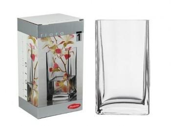 vaso fiori vetro flora quadro trasparente pasabahce