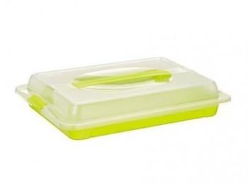 scatola vassoio con coperchio trasporto alimenti