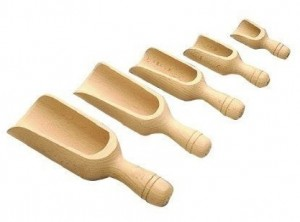 ventola sessola paletta farina legno faggio