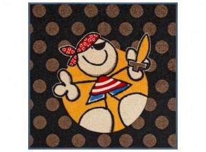 wash dry tappeto zerbino stanza bambini pirata quadrato 85
