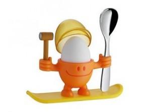 set porta uovo coque per colazione bambini omino con cucchiaio wmf