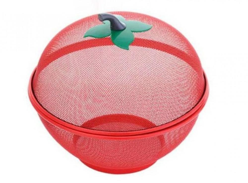 Cestino porta frutta rete metallo con coperchio - Porta coperchi pentole ...